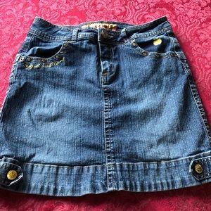 Apple Bottoms Girls Denim Mini Skirt Size 14